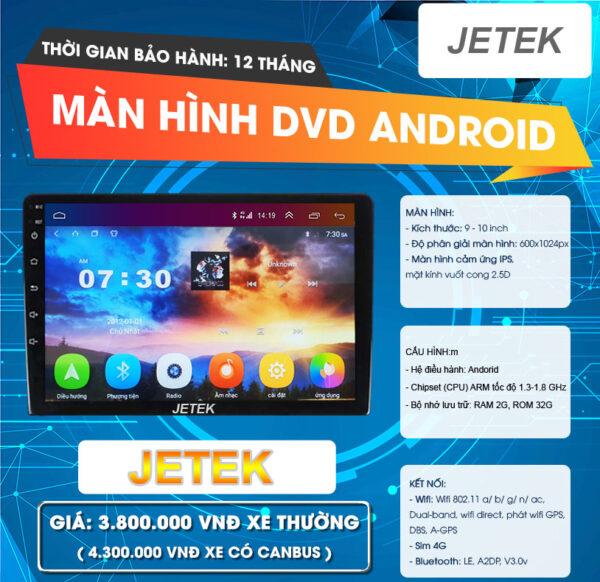 Màn hình DVD Android Jetek